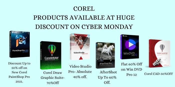 COREL HUGE DISCOUNT ON CYBER MONDAY